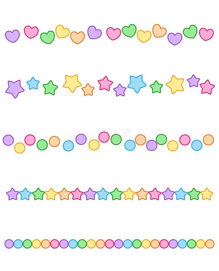 rabatowy kolorowy divider ilustracji
