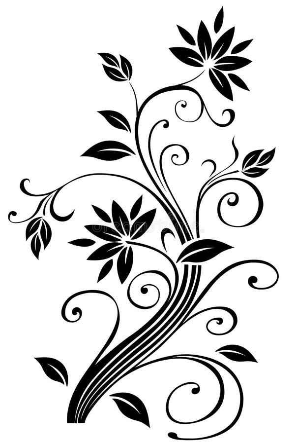 rabatowy kwiecisty ilustracja wektor