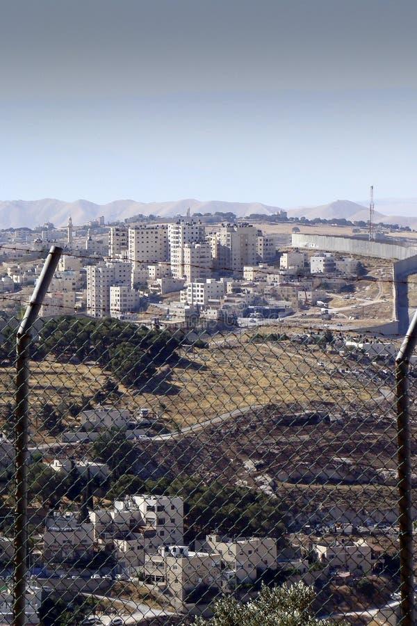 Rabatowy ogrodzenie w Jerozolimskim Izrael obrazy stock