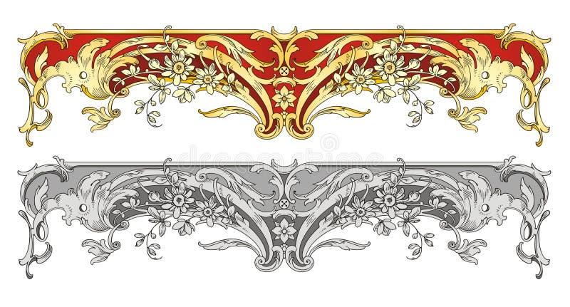 rabatowy ornament royalty ilustracja
