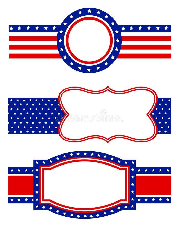 rabatowy patriotyczny royalty ilustracja
