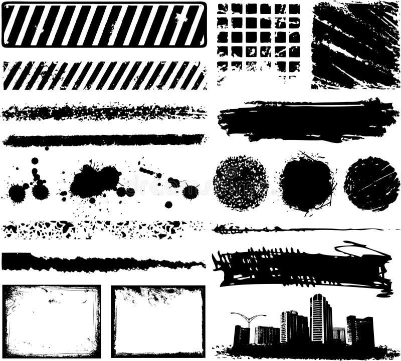 rabatowy ramowy grunge ilustracji