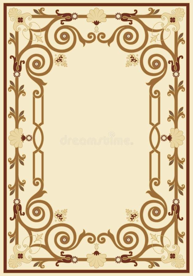 rabatowy ramowy ornamentacyjny rocznik ilustracji