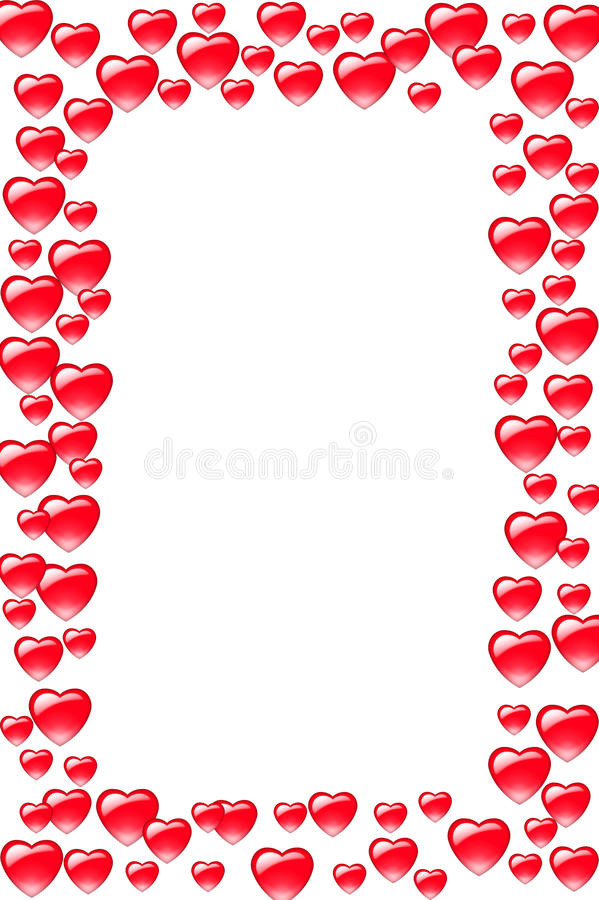 rabatowy serce ilustracja wektor