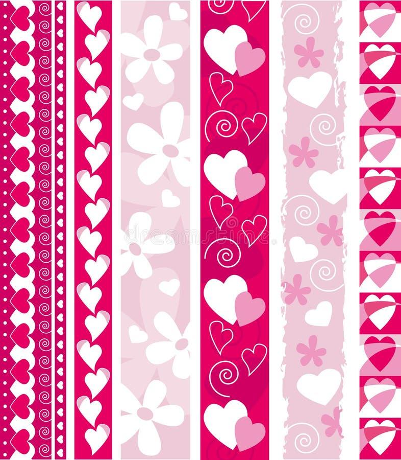 rabatowy valentine wektor ilustracji