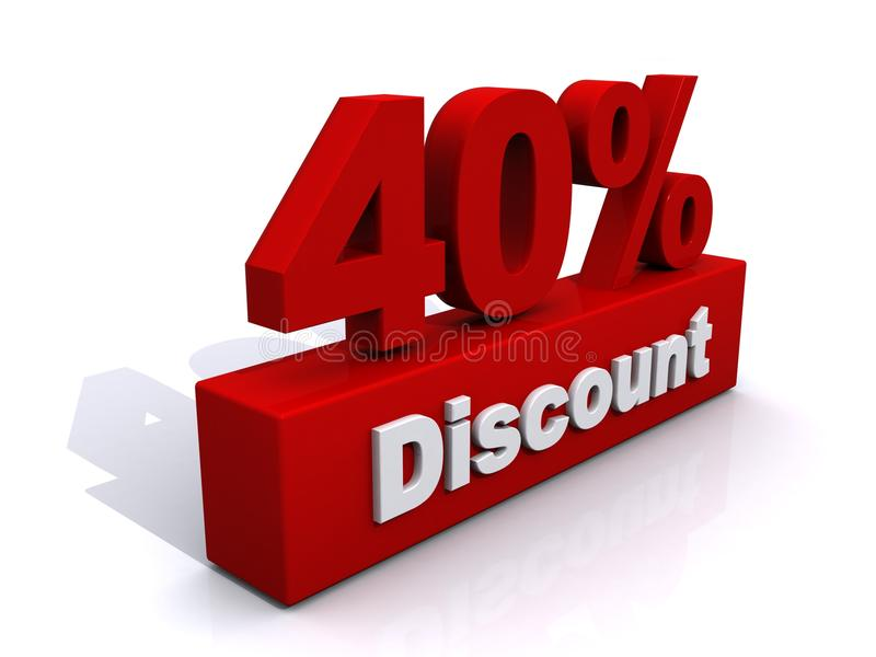 40% Rabatt vektor abbildung