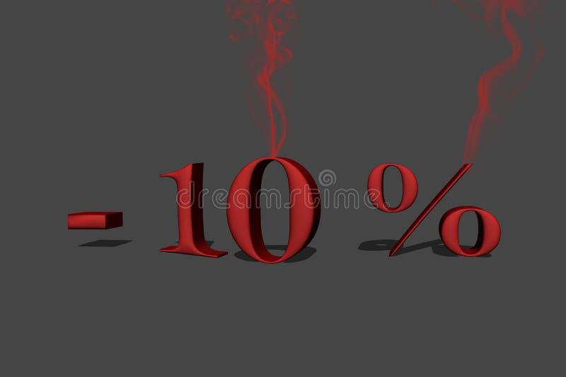10% rabatt vektor illustrationer