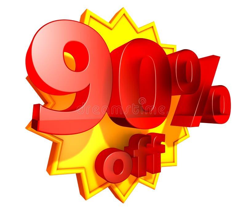 rabatt 90 av procentpris royaltyfri illustrationer