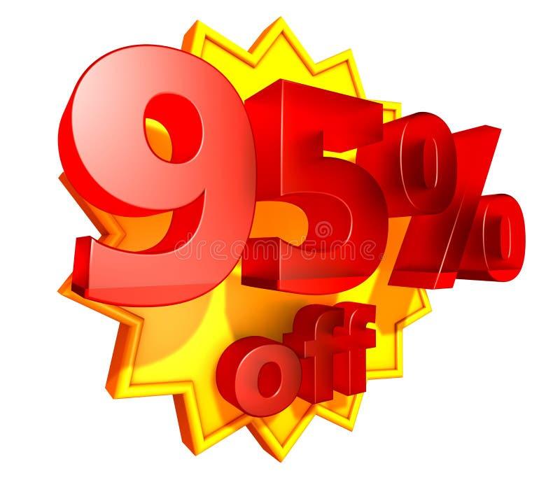 rabatt 95 av procentpris royaltyfri illustrationer