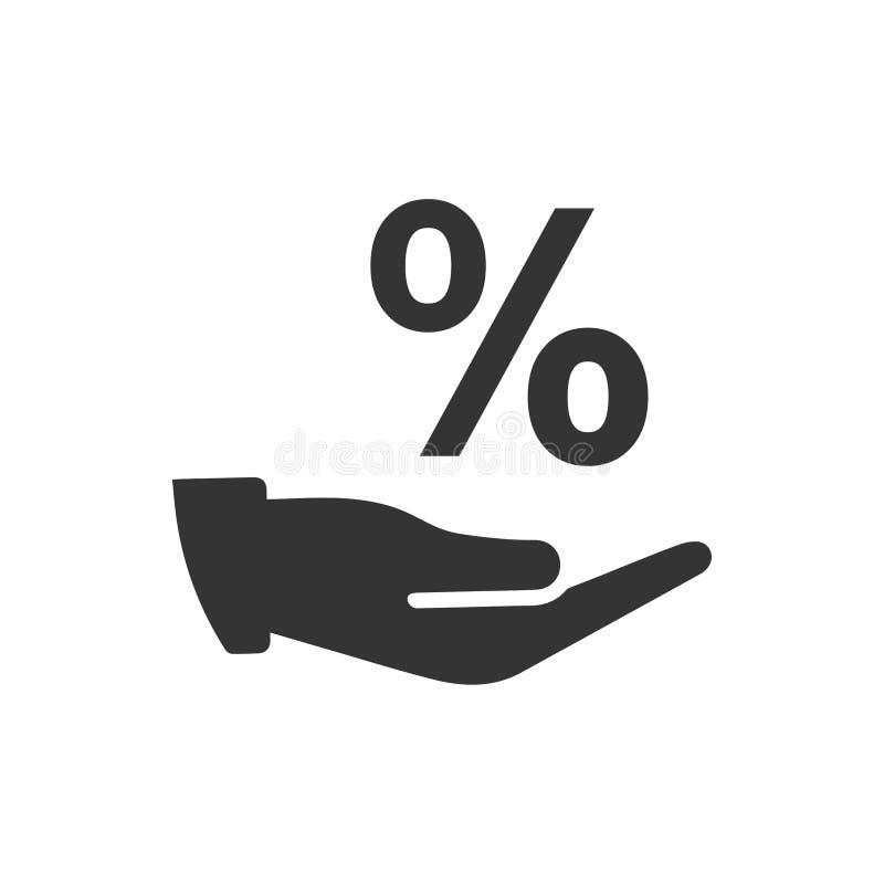 Rabatt-Angebot-Ikone stock abbildung