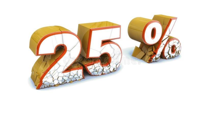 Download Rabatt Des Textes 3d Gebrochen Stock Abbildung - Illustration von zeichen, system: 96934568