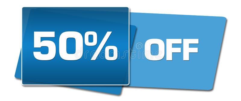 Rabatt femtio procent av blåa sidofyrkanter vektor illustrationer