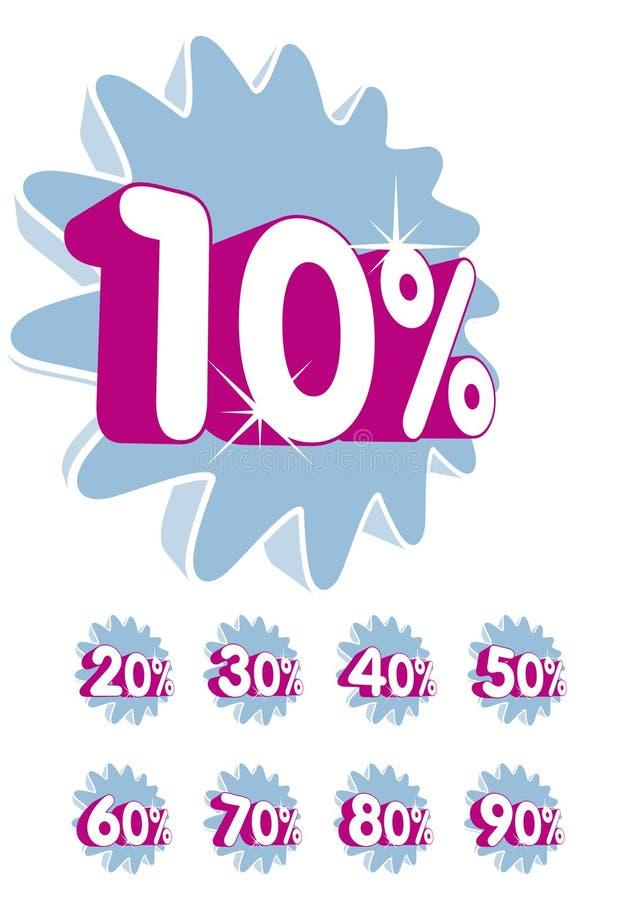 Rabatt - Prozentsatz vektor abbildung