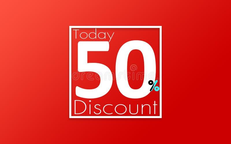 Rabatt 50% vektor abbildung