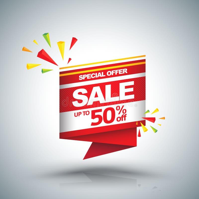 Rabatt upp till 50 för Sale vektorbaner vektor illustrationer