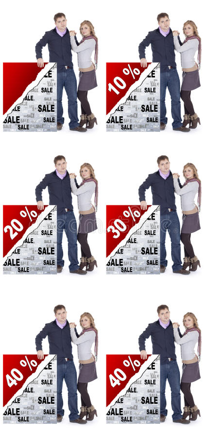 Rabatte Papierpresentaion stockfoto