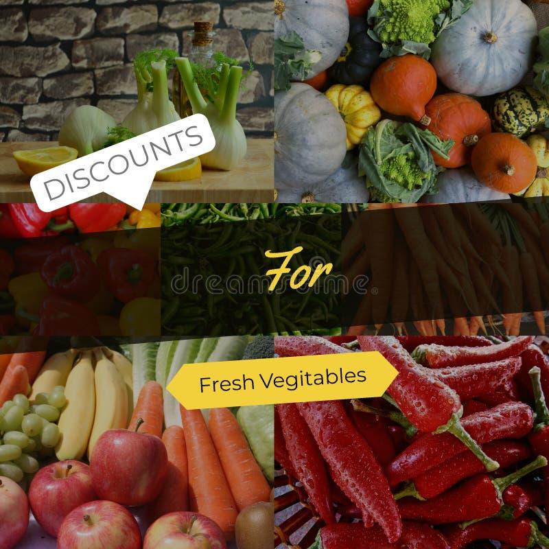 Rabatter för nya grönsaker fotografering för bildbyråer