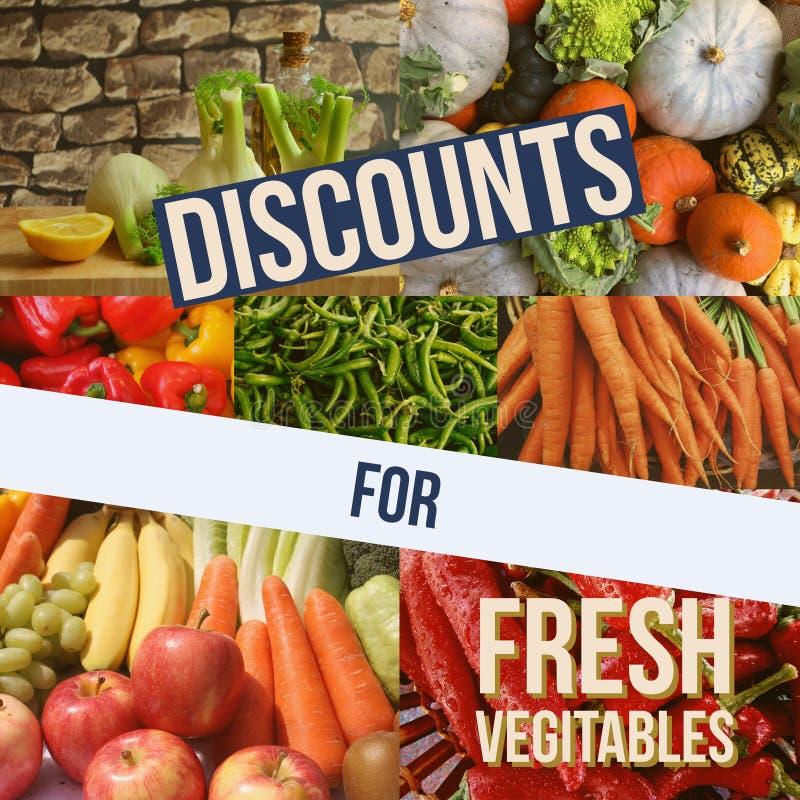 Rabatter för nya grönsaker arkivbild