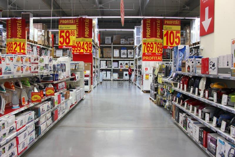 Rabatter I Supermarket Redaktionell Arkivfoto