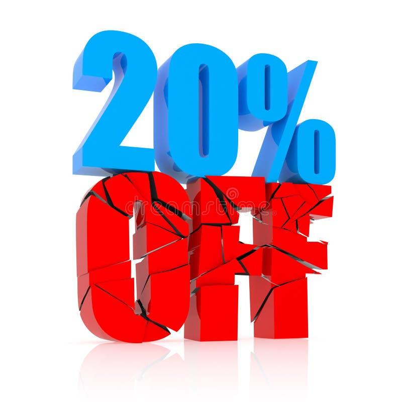 20% Rabattikone lizenzfreie abbildung