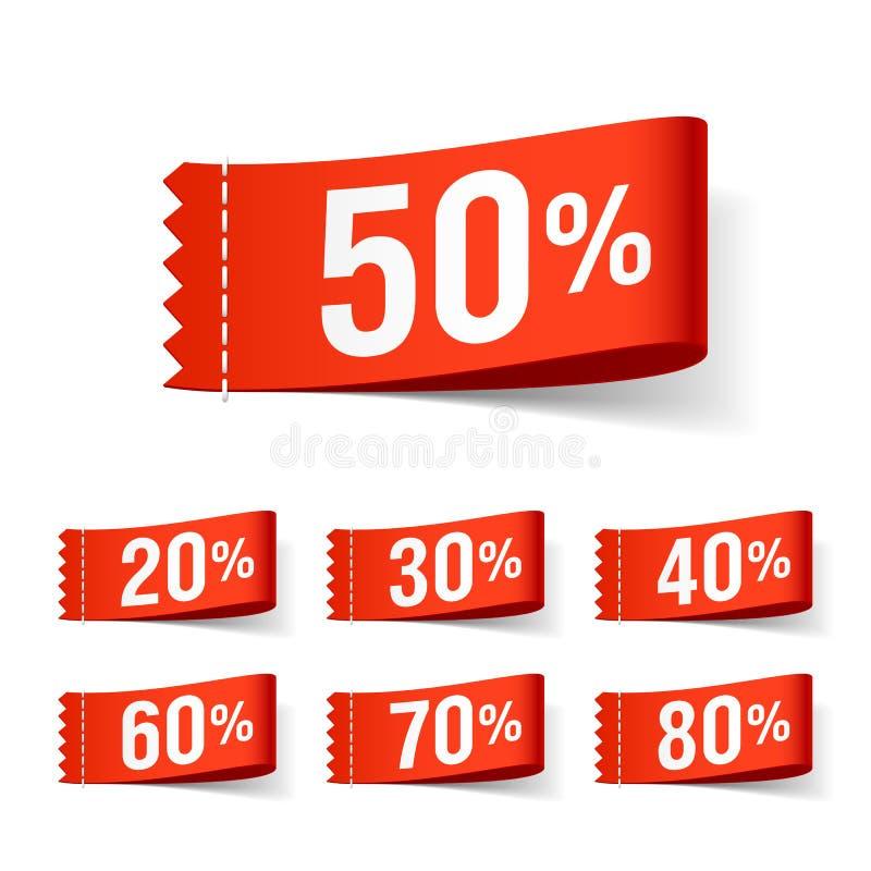 Rabattkennsätze lizenzfreie abbildung
