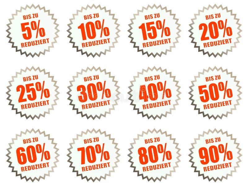 rabattklistermärkear för priserbjudanden vektor illustrationer