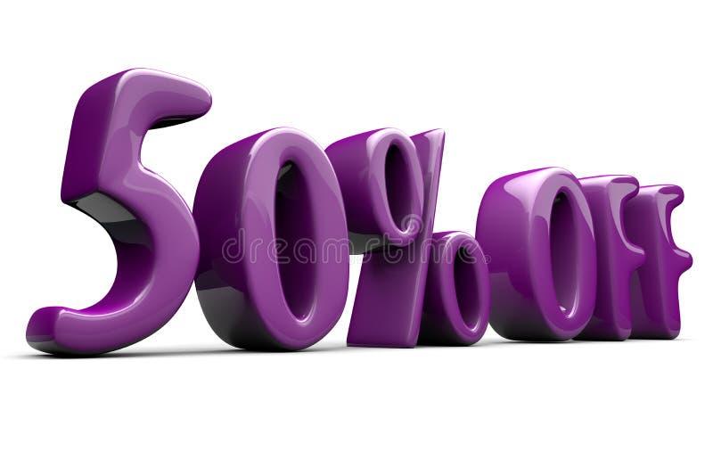 50% Rabattzeichen stockbild