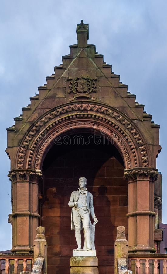 Rabbie Burns Statue Kay Park stock fotografie