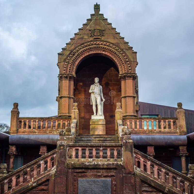 Rabbie Burns Statue, Kilmarnock stock afbeeldingen