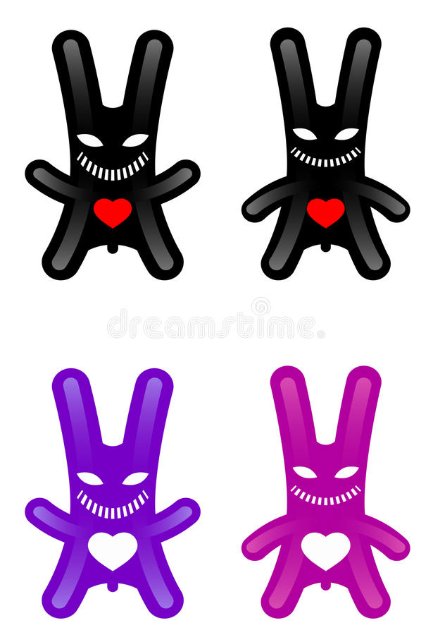 Download Rabbit stock vector. Image of goblin, angry, creature - 25260936