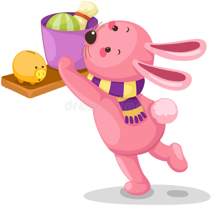 Download Rabbit stock vector. Illustration of background, children - 26685680