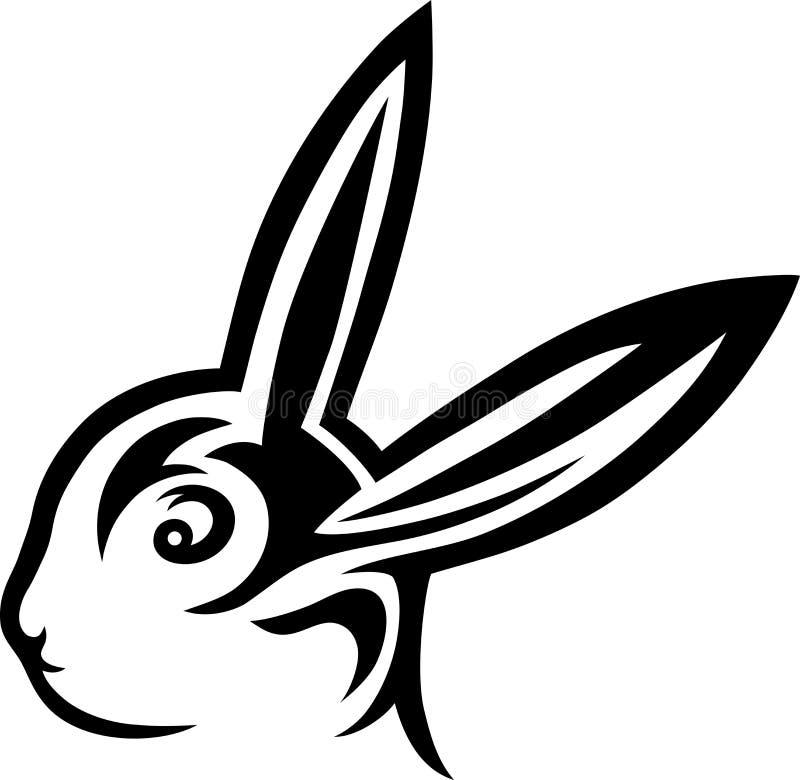 Download Rabbit stock vector. Image of logo, curl, design, drawn - 38366225