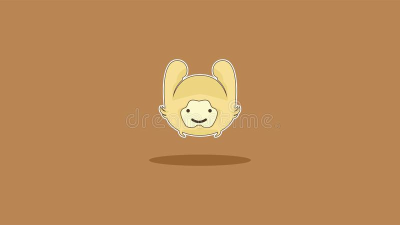 A rabbit for amazing wallpaper with brown background stock images