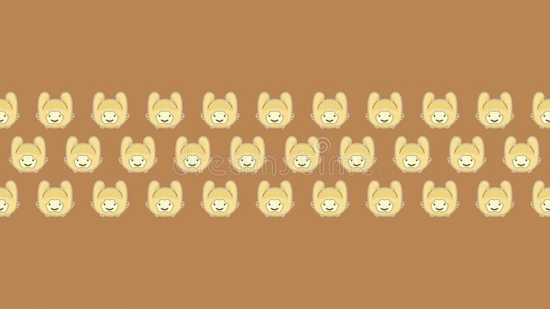 100 rabbit for amazing wallpaper with brown background royalty free stock images