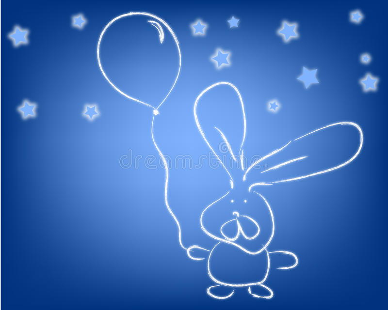 Download Rabbit and a ballon stock illustration. Image of ears - 17167174