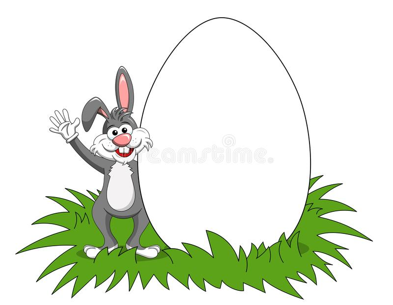 Download Rabbit Or Bunny Blank Copy Space Big Egg Isolated Stock Vector - Illustration of postcard, easter: 107772540