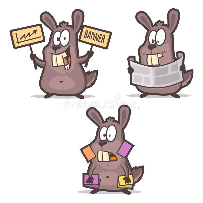 Download Rabbit Business Cards Newspaper Advertisement Stock Vector - Illustration of business, humor: 42190887