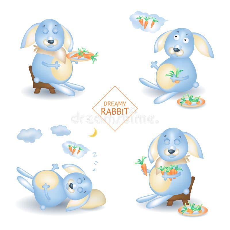 Rabbit character royalty free illustration