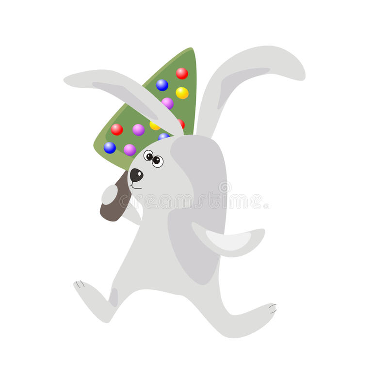Download Rabbit With A Christmas -tree Stock Vector - Image: 17367304