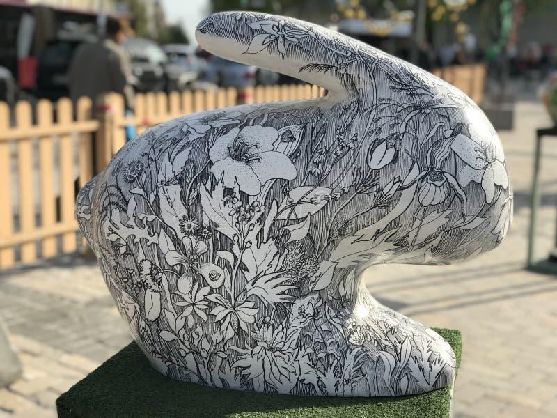 Flower rabbit stock photography