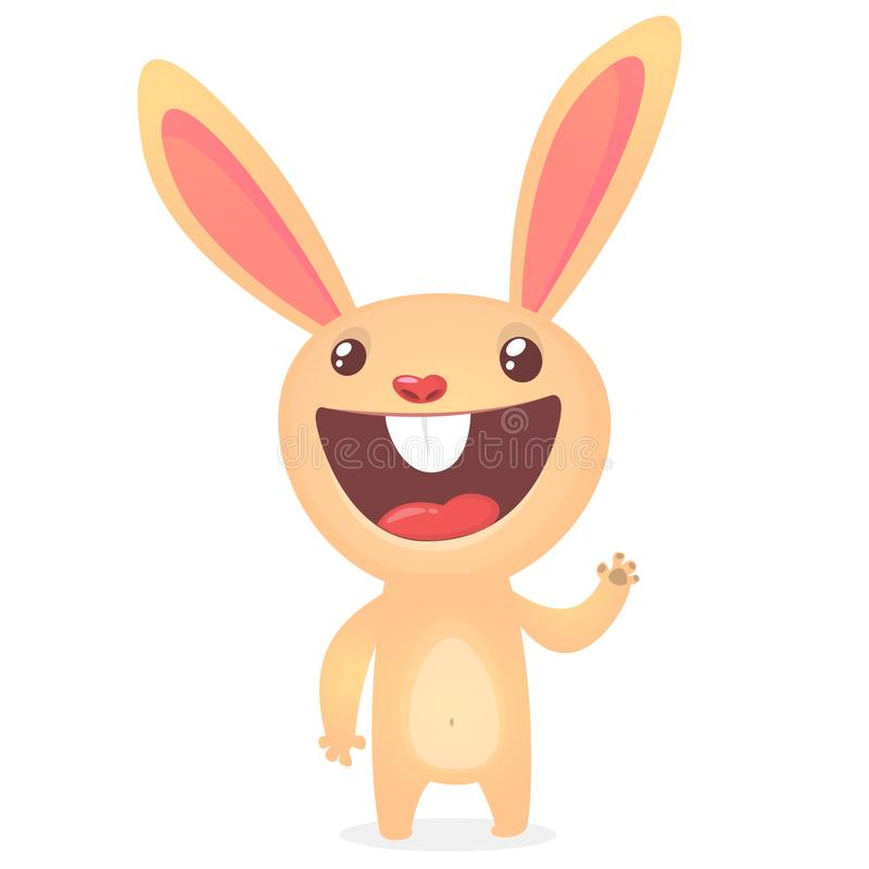 Rabbit or Easter Bunny cartoon character. Vector illustration royalty free illustration