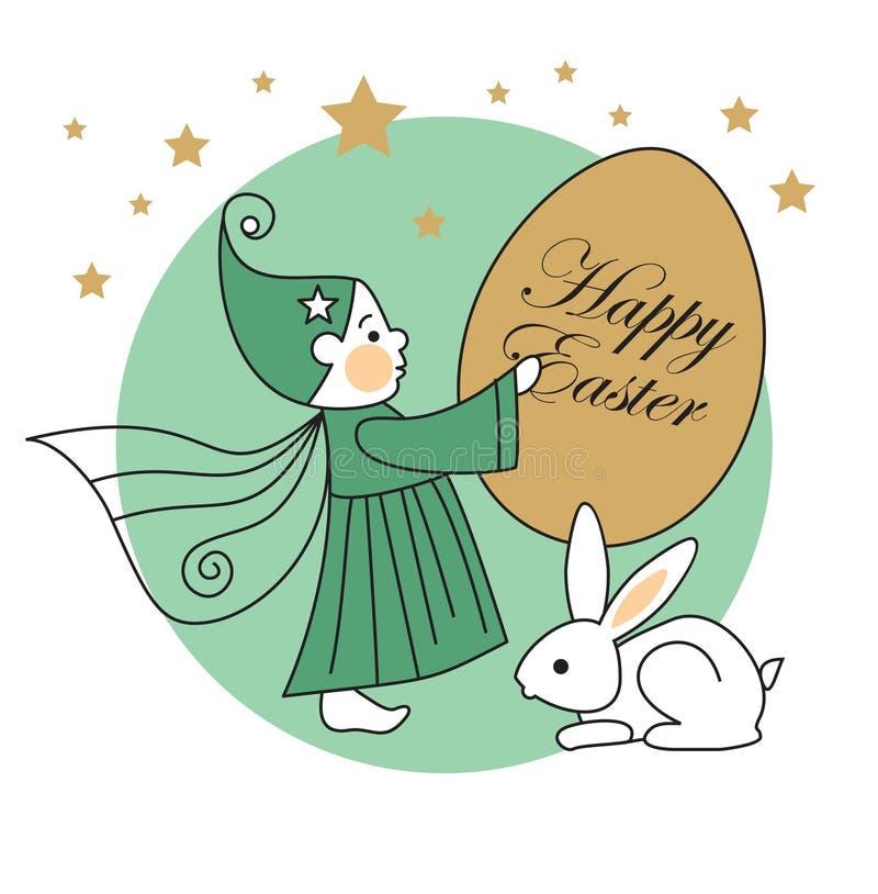 Download Rabbit, elf, easter egg stock vector. Image of fall, design - 19057515