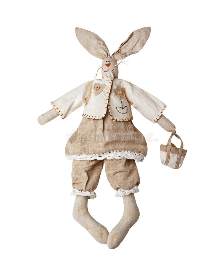 Download Rabbit ,fabric toys stock image. Image of closeup, doll - 17301073