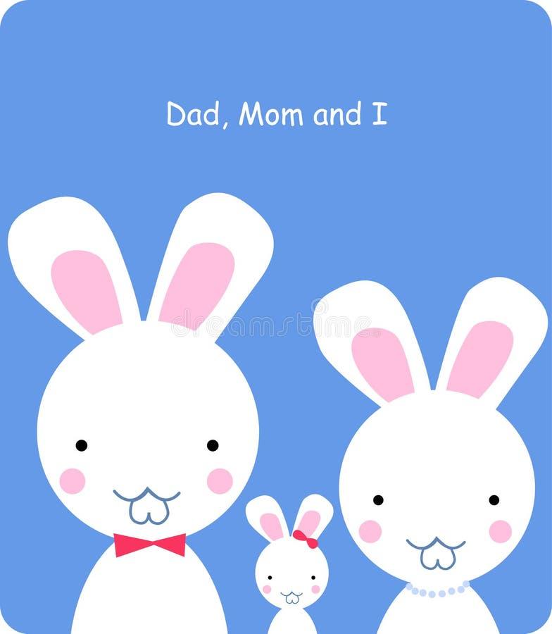 Download Rabbit family stock vector. Illustration of bunny, happy - 11615752