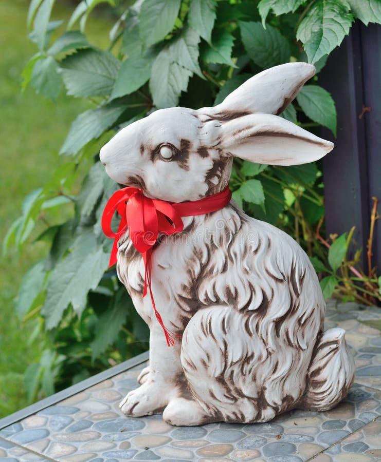 Rabbit figurine stock images