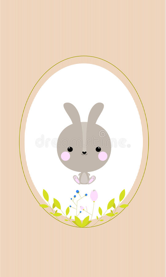 Rabbit in frame royalty free stock photography
