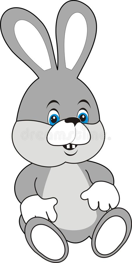 Download Rabbit (Hare)  Grey White Soft Stock Vector - Image: 10867448