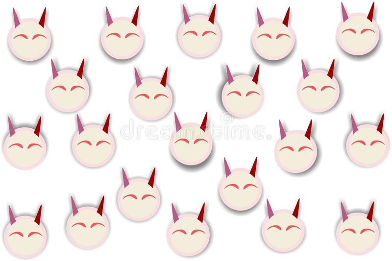 Rabbit head smiling eyes repetitive ethnic pattern. Rabbit head smiling eyes shape repetitive background pattern suitable for book cover, wallpaper decoration vector illustration