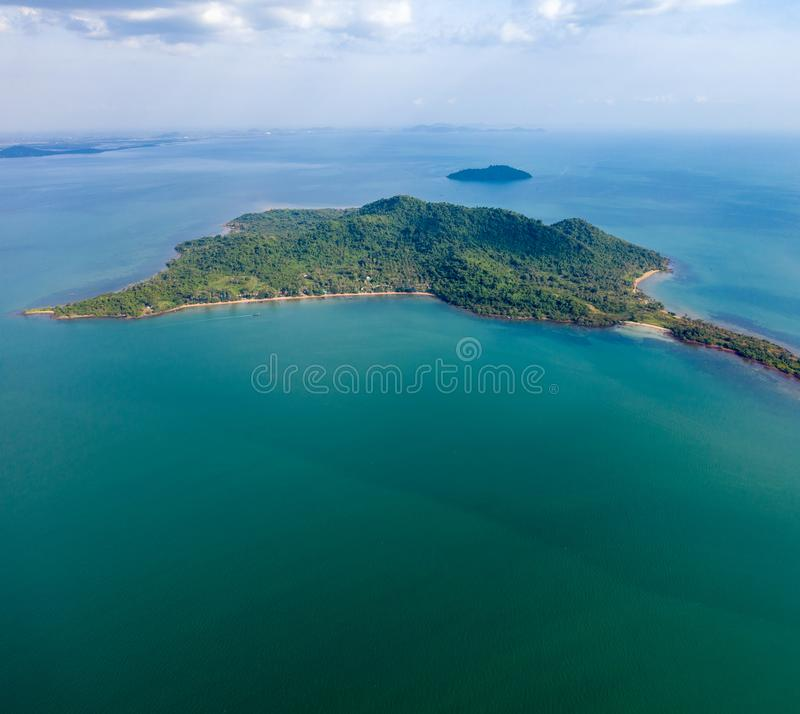 Rabbit island - Kampot - Cambodia. Rabbit island - Kampot - at Cambodia on December with 30 minutes by boat royalty free stock images