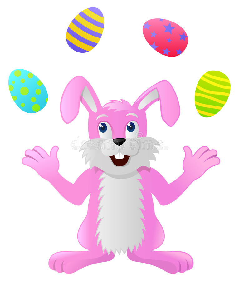 Download Rabbit Juggling Easter Eggs Stock Vector - Image: 28846130